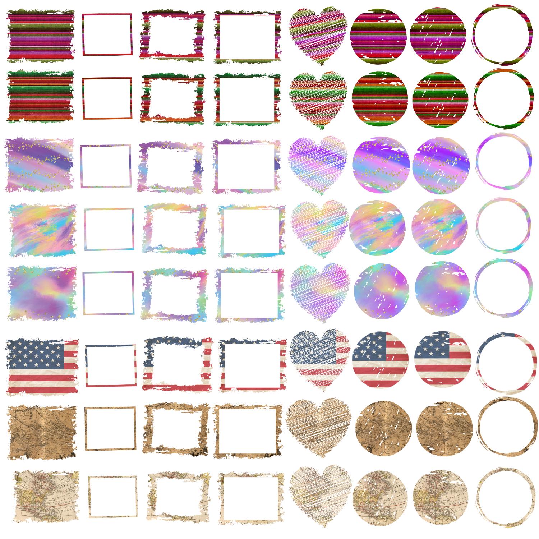 Backsplash Frames Bundle for Sublimation - 728 PNG Designs example image 9