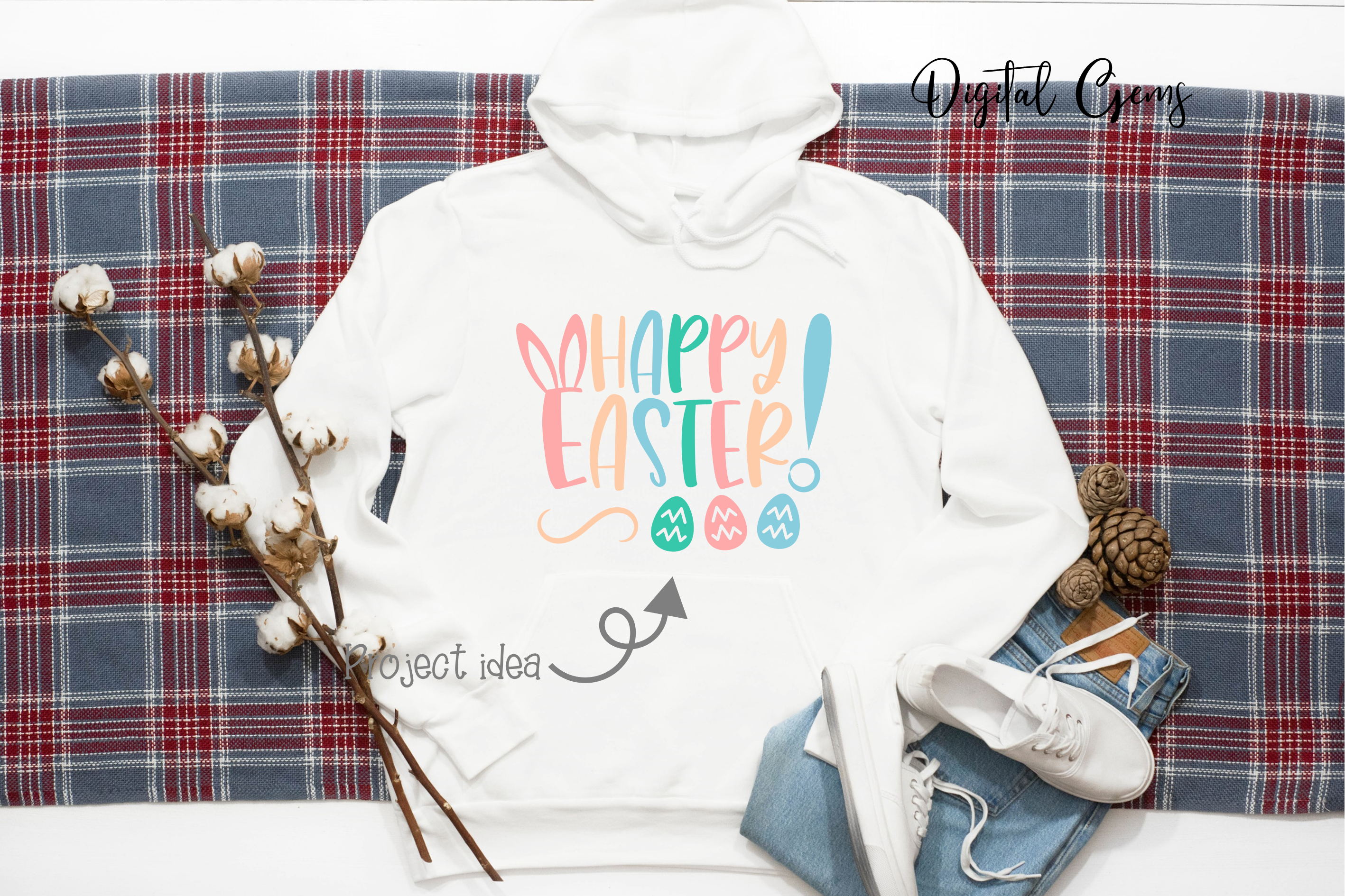 Happy Easter SVG / DXF / EPS / PNG files example image 5