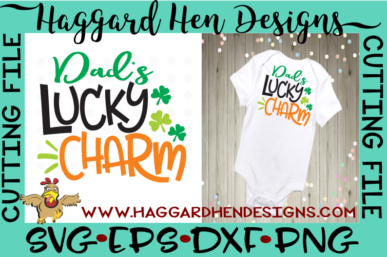 Dad's Lucky Charm SVG example image 1