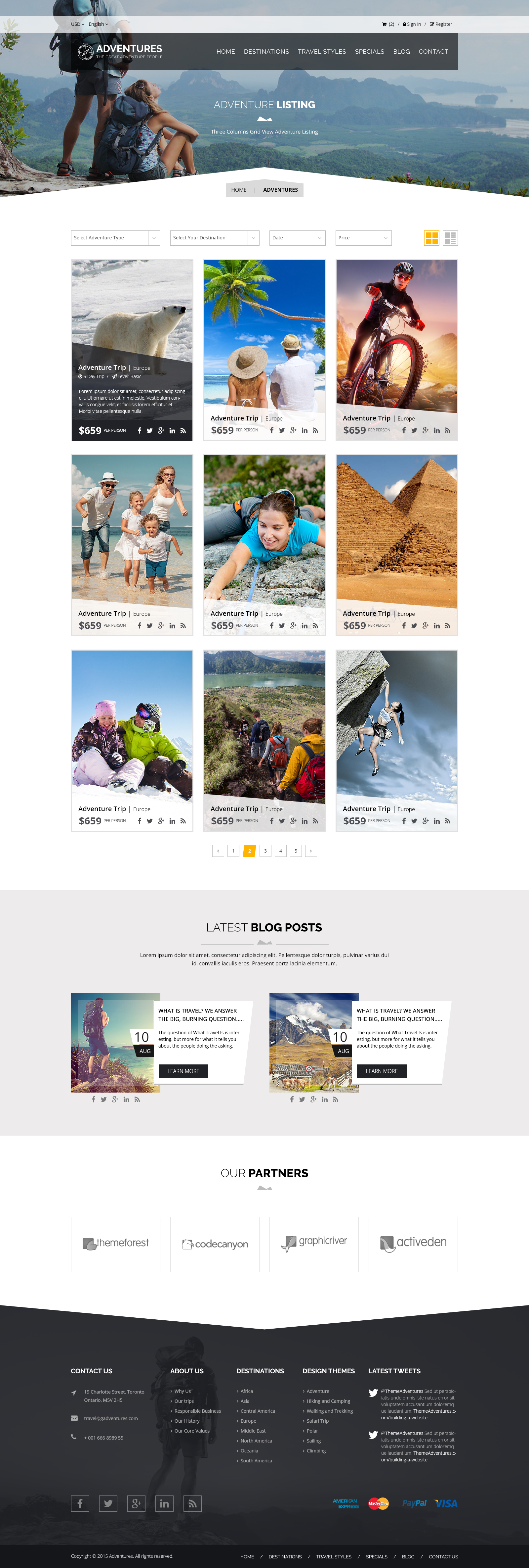 Adventures and Tour PSD Template example image 6