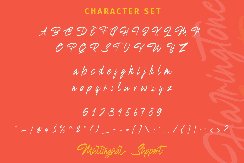 Harringtone Script example image 12