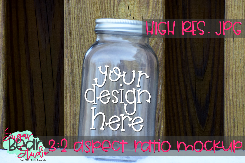 Mason Jar on a Table Mockup example image 1