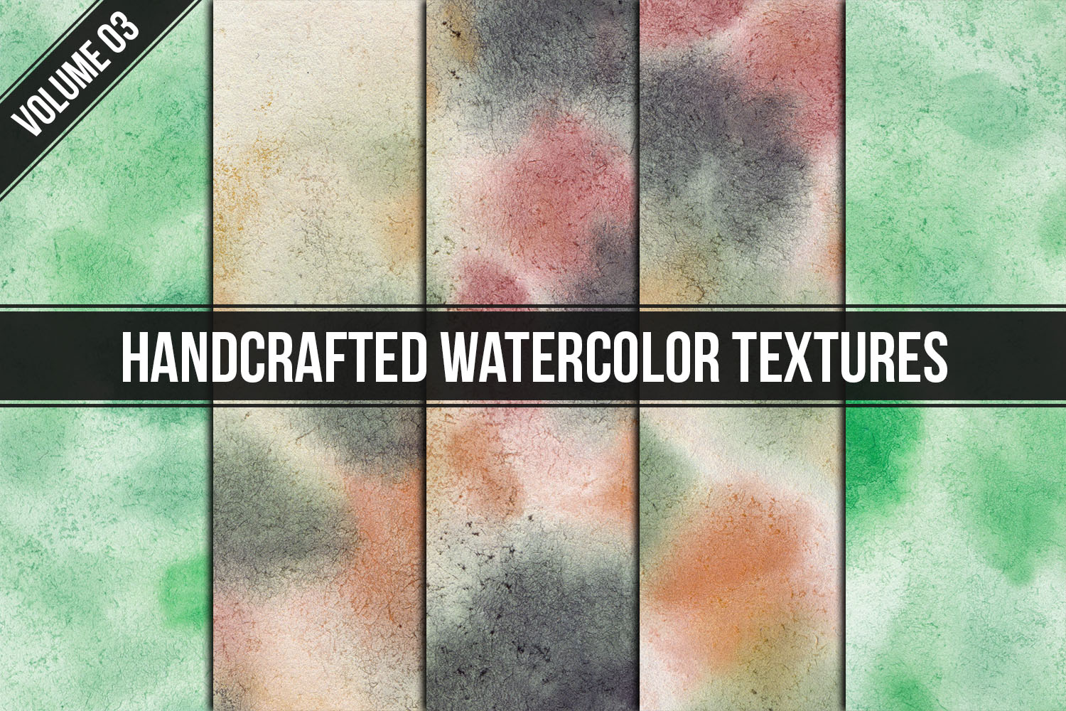 Handcrafted Watercolor Textures Vol. 03 example image 1