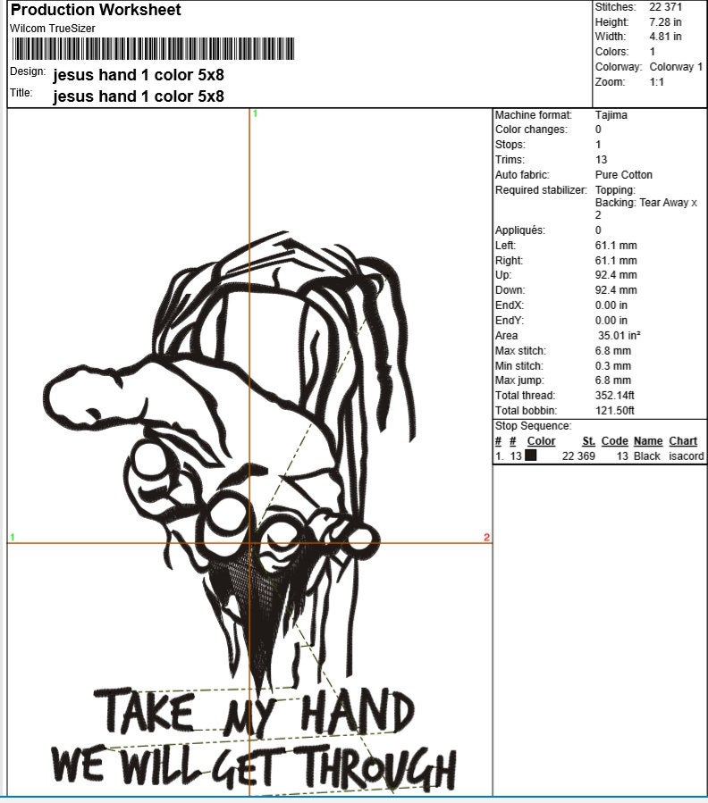 Jesus Hand Set of Machine Embroidery Designs example image 5