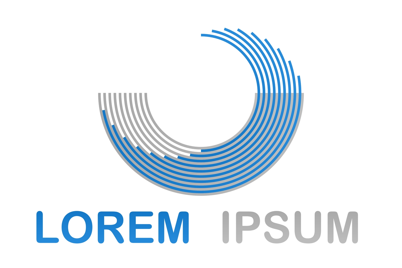 60 round geometric logo designs (EPS, AI, SVG, JPG 4800x4800) example image 2