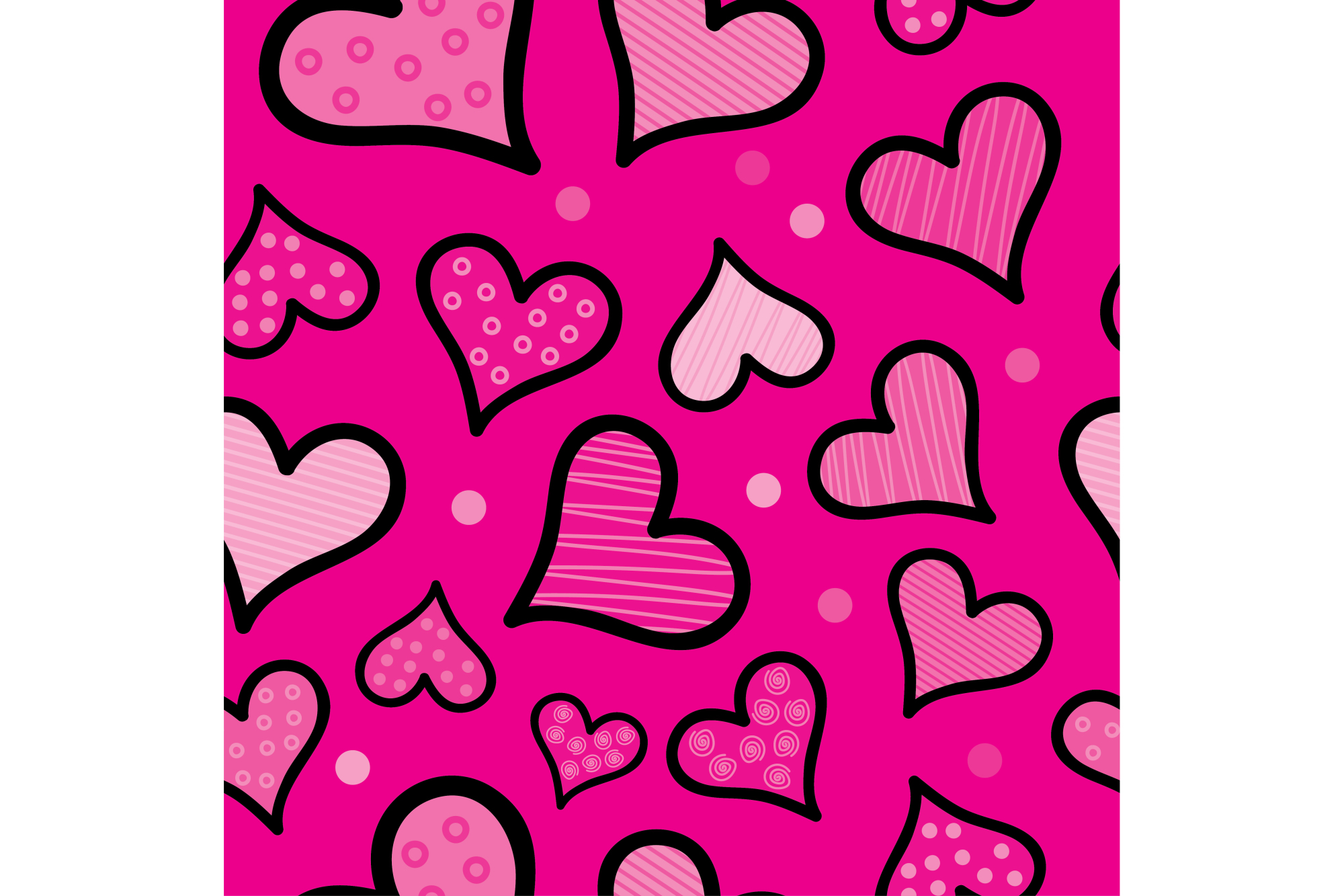 Seamless vector background with decorative hearts. Print. Cloth design, wallpaper. example image 1