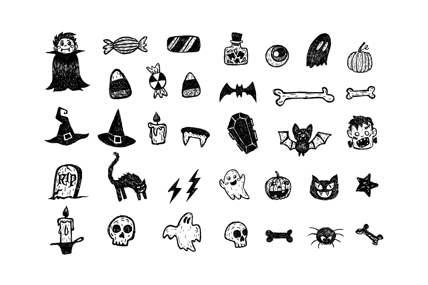 Halloween Vector Illustrations example image 2