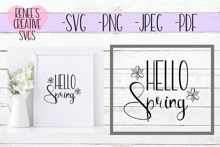 Hello Spring   Spring   SVG Cutting File example image 1