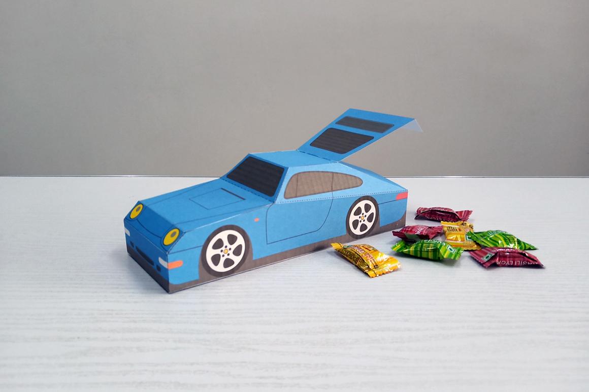DIY Porsche Car favor - 3d papercraft example image 5
