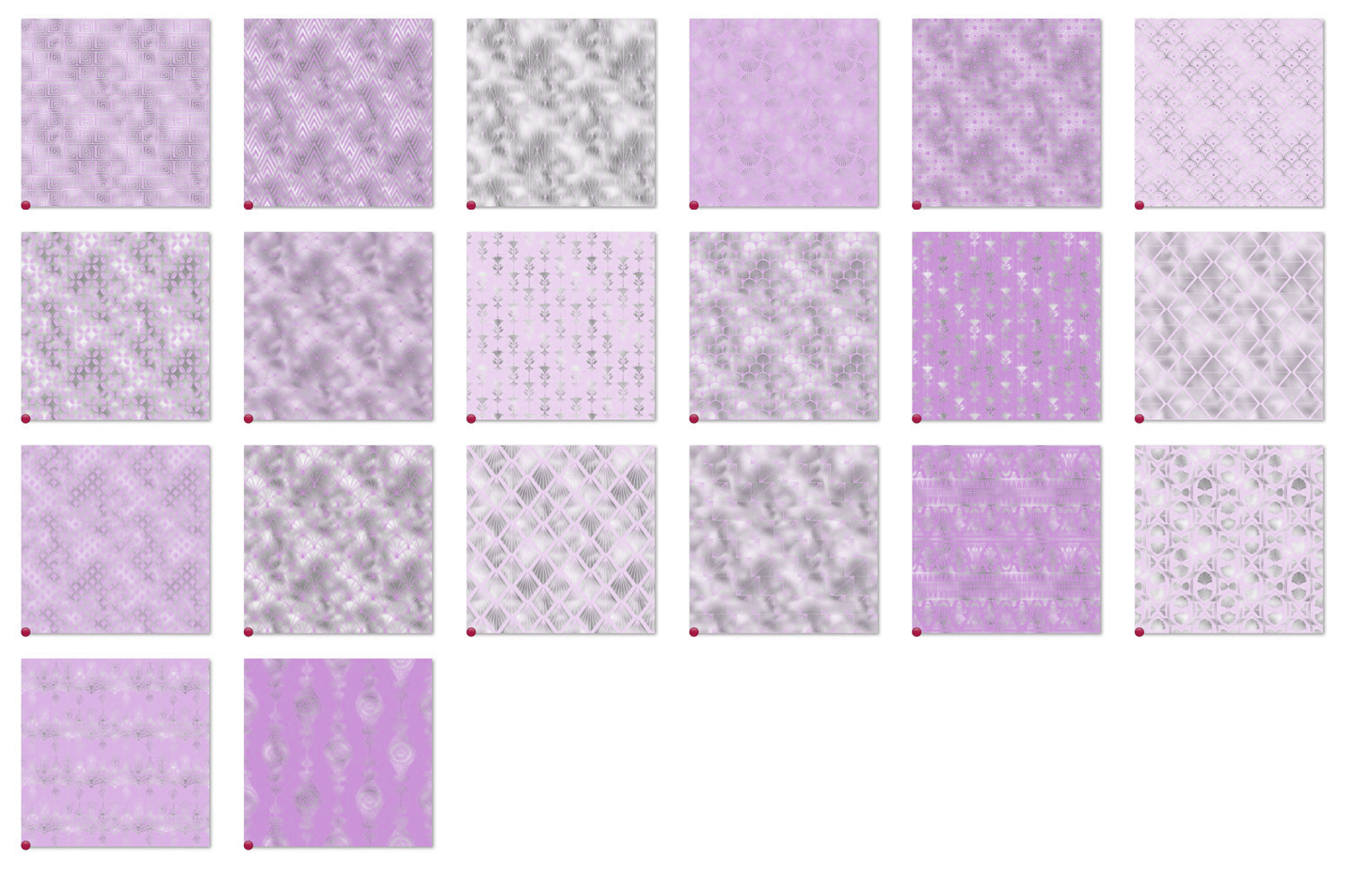Purple and Silver Art Deco Digital Paper example image 5
