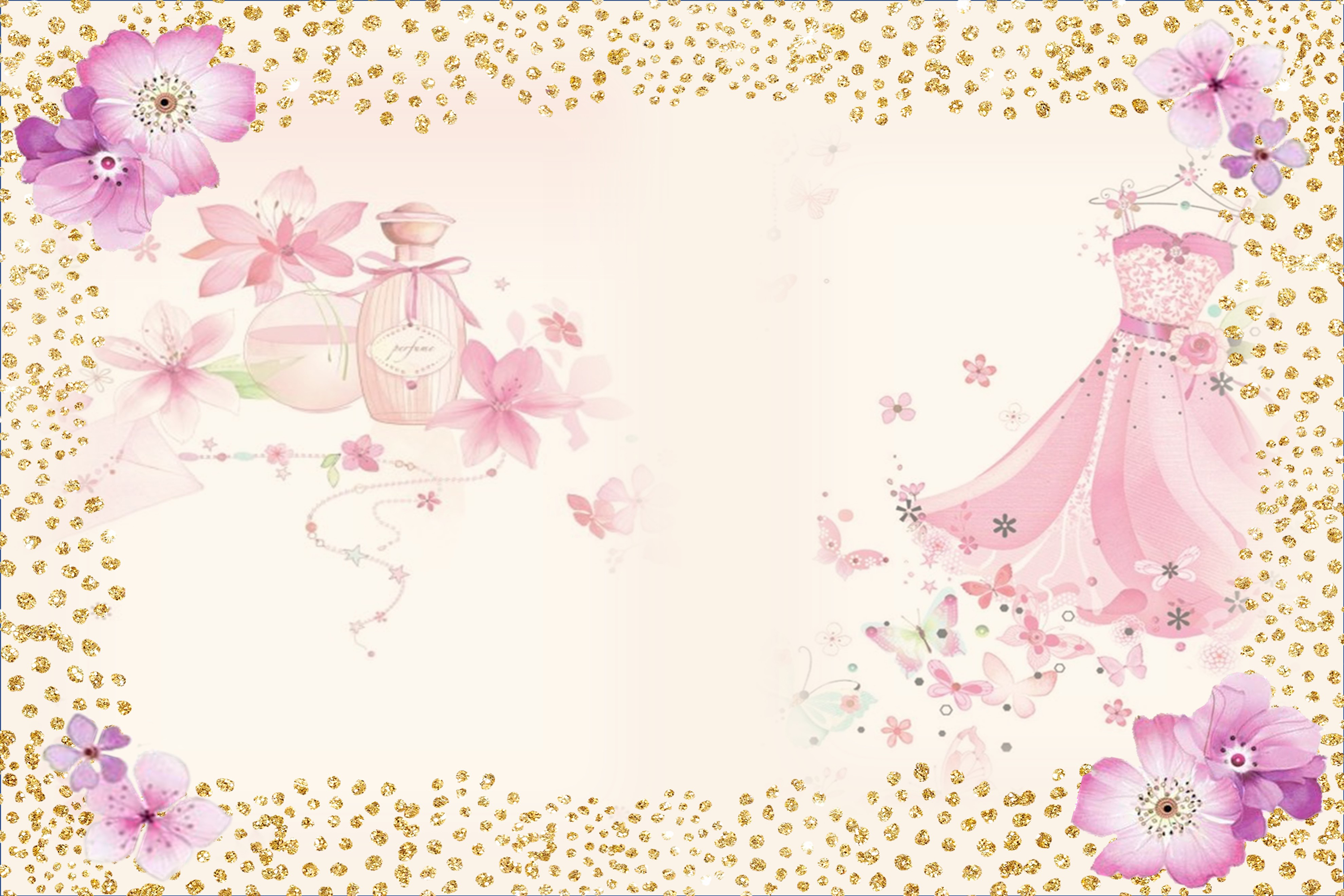 Country Springtime Watercolour Backgrounds, Ephemera &PNG example image 4