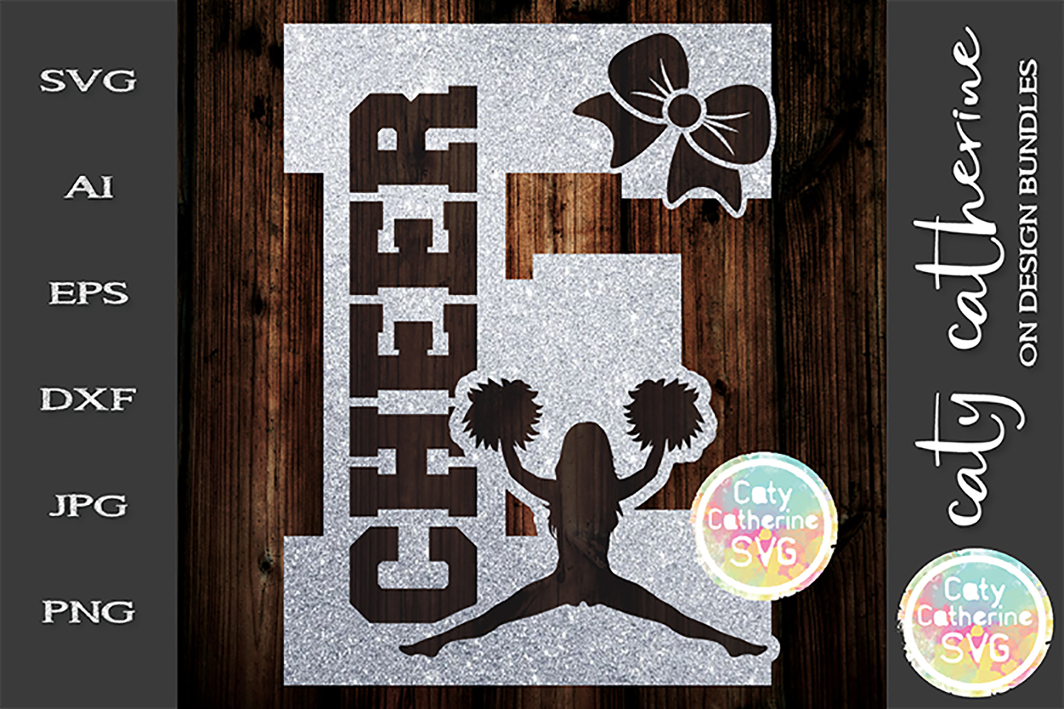 Letter E Cheerleading Monogram Letters SVG Cut File example image 1