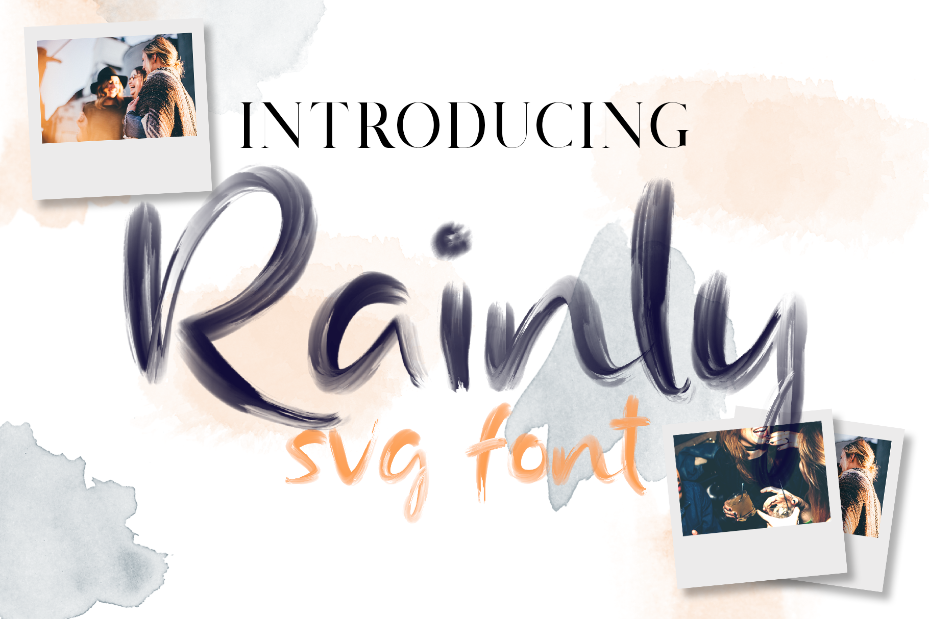 Rainly - Brush & SVG Font example image 1