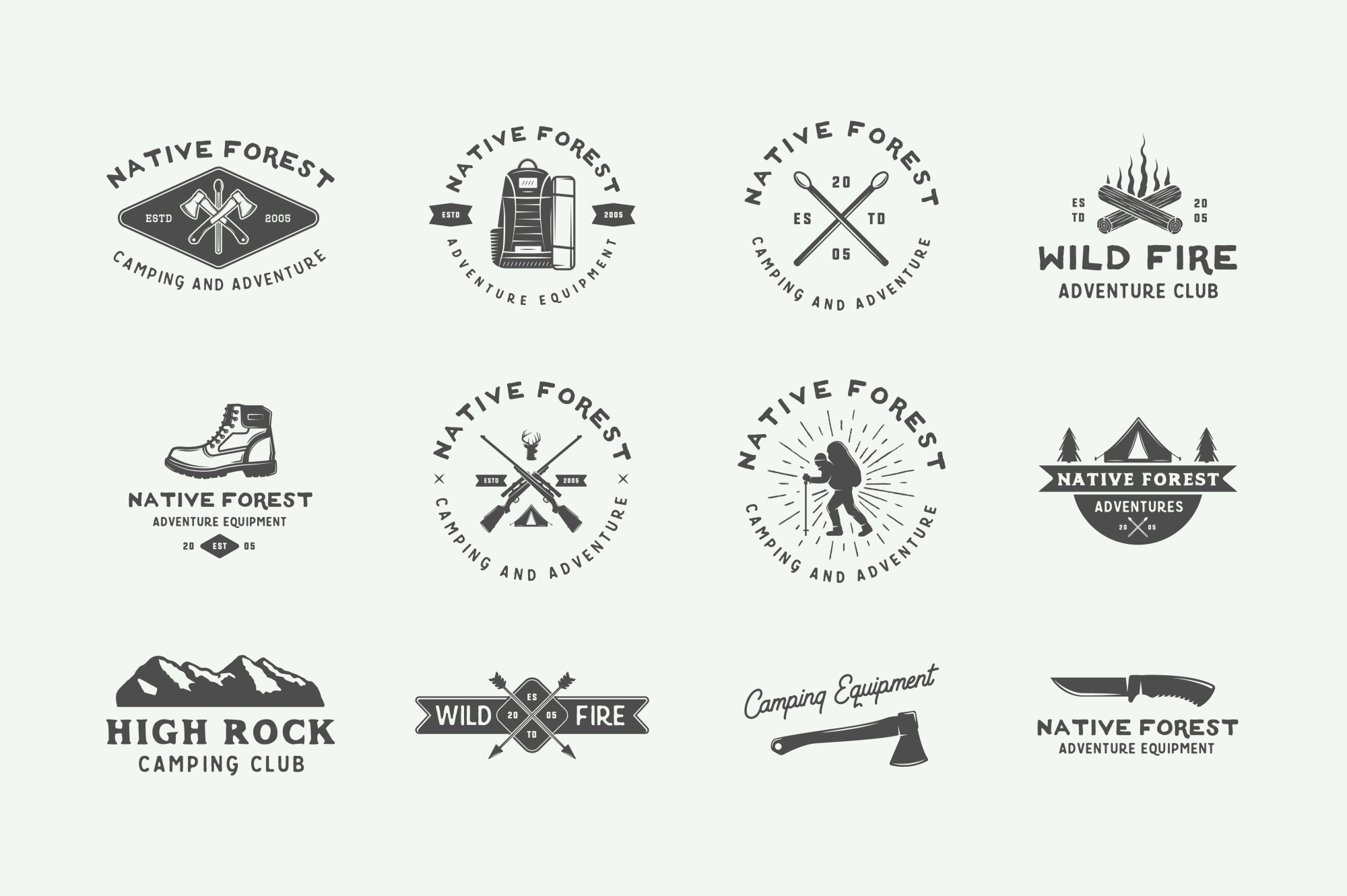 Camping and Adventure Emblems example image 7
