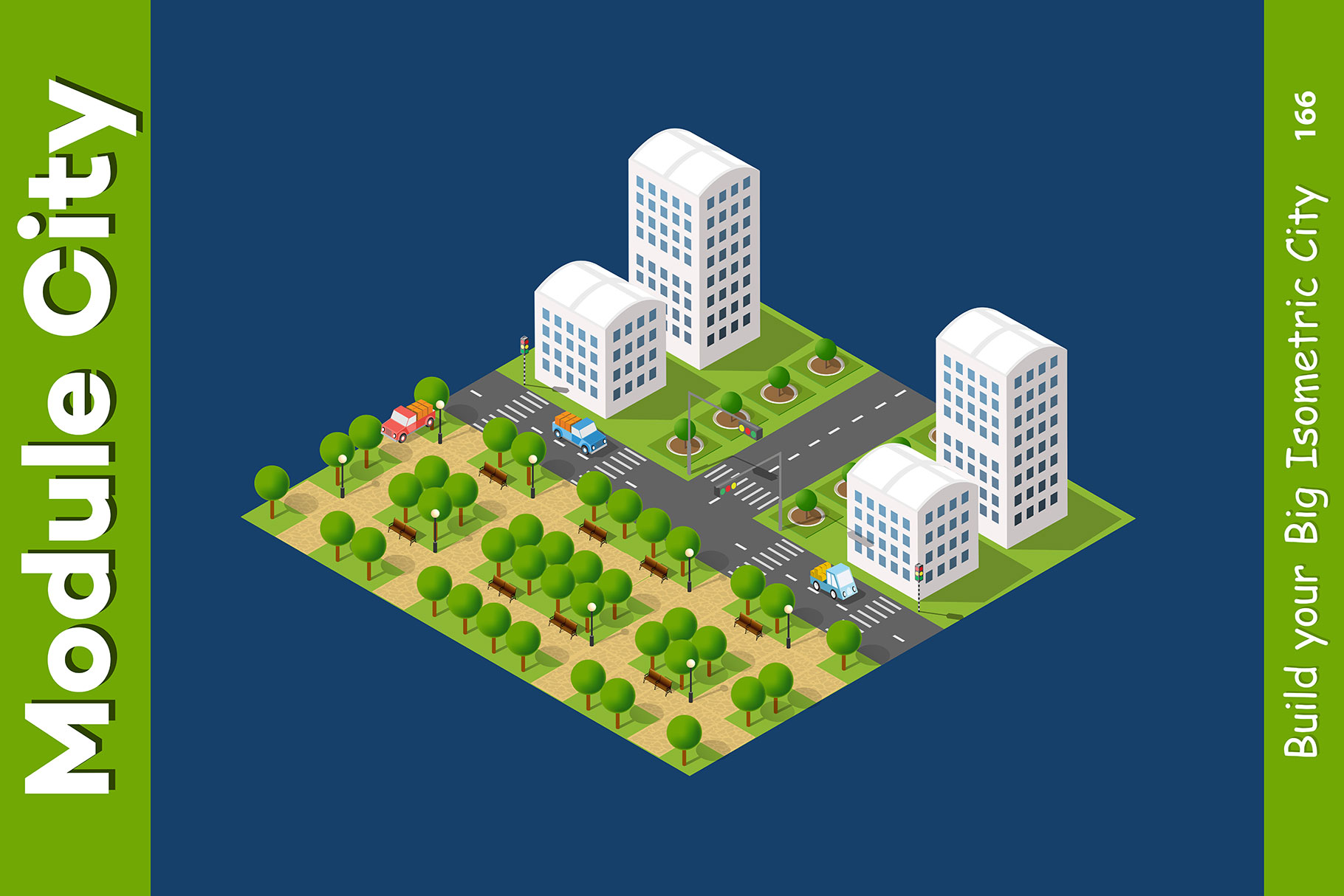 Isometric set module city example image 21