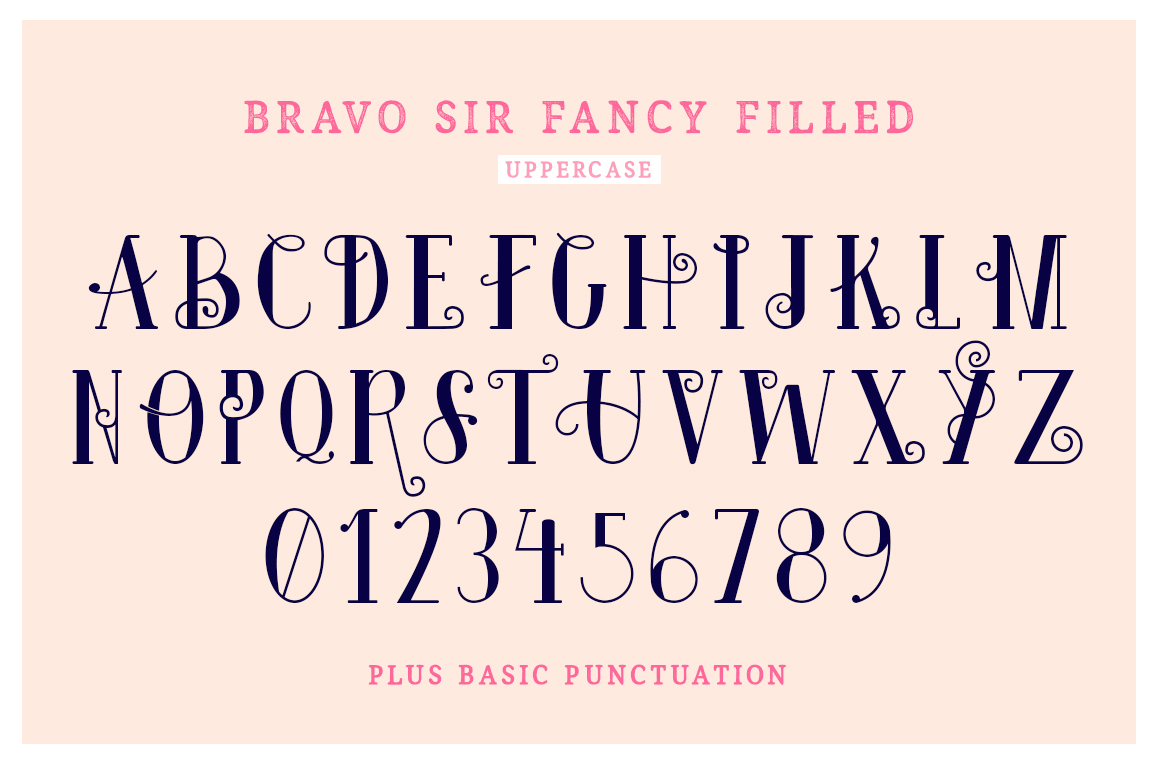 Bravo Sir Font Family example image 8