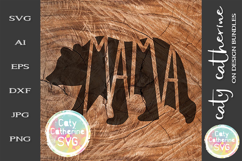 Mama Papa Baby SVG Tee Design Bear Detail Cut File example image 3