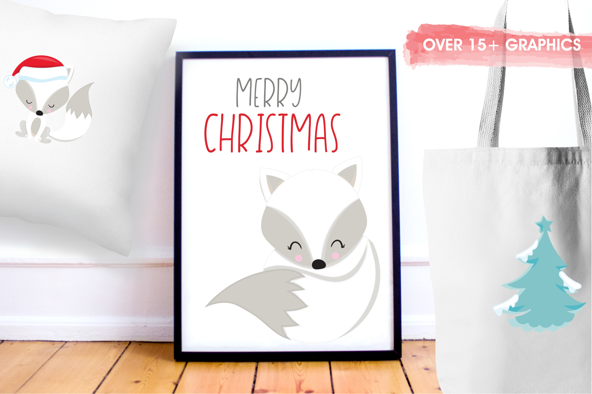 Winterland Fox graphics and illustrations example image 5