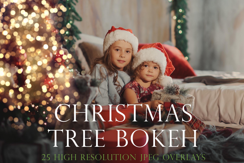 Christmas tree bokeh overlays example image 1
