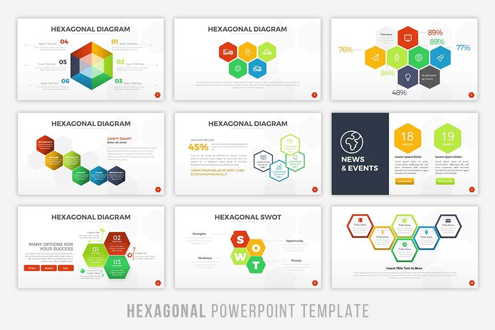 Hexagonal Powerpoint Tempalte example image 2