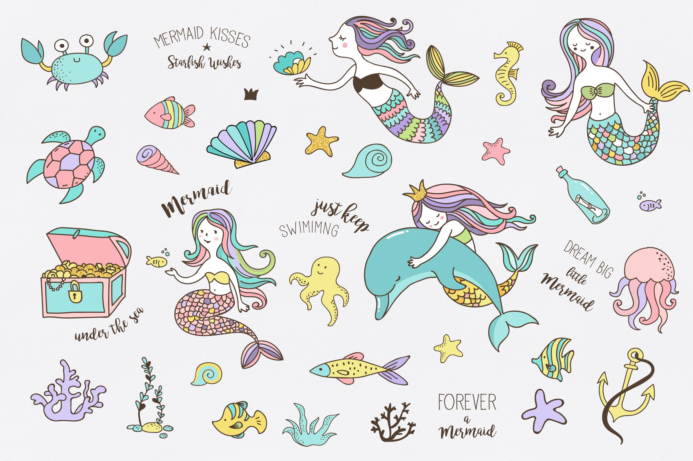 Little Mermaid - under the sea set example image 2