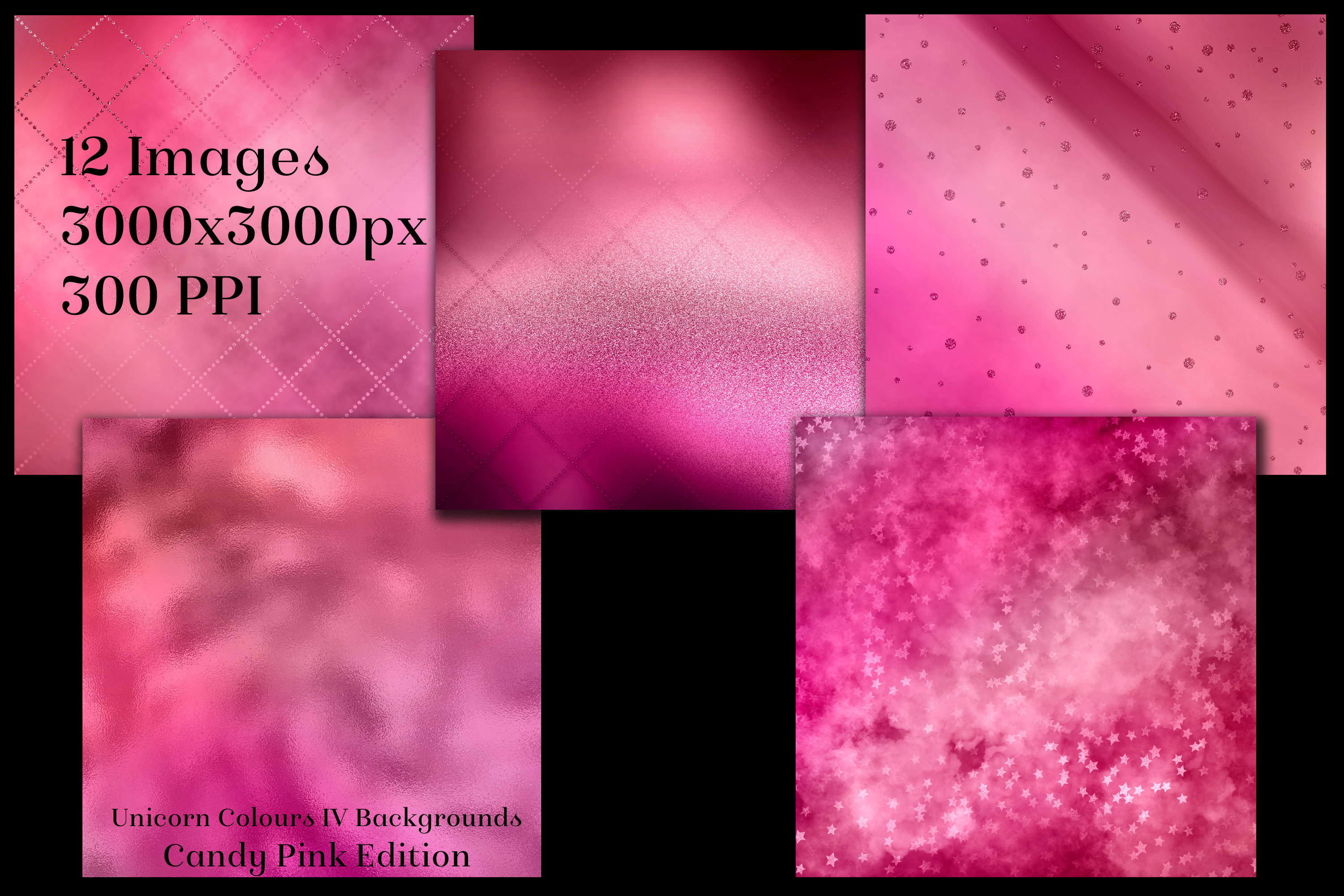 Unicorn Colours Backgrounds IV - Candy Pink Edition Textures example image 2