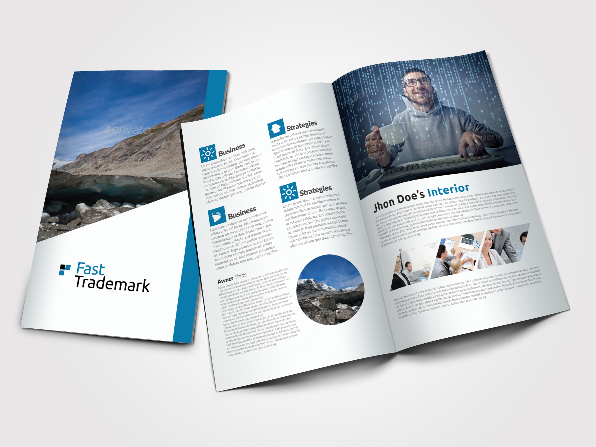 Finance Provider Firm Business Bifold Brochure example image 1