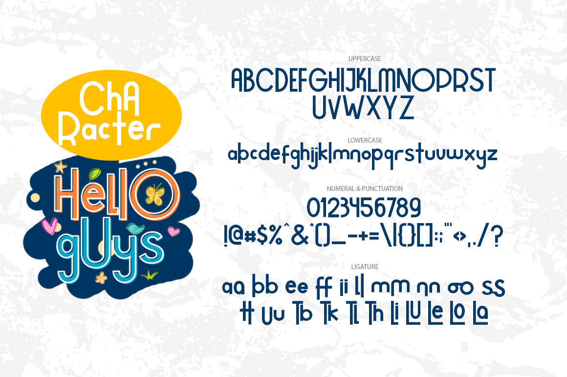 Hello Guys Layered Font example image 6