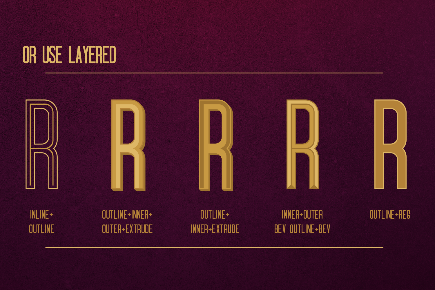 Oblivium Layered Font Family example image 3
