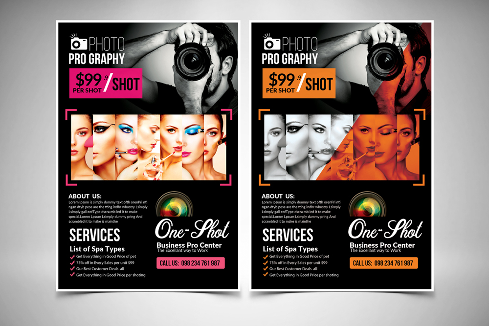 New Photography Flyer Template example image 1