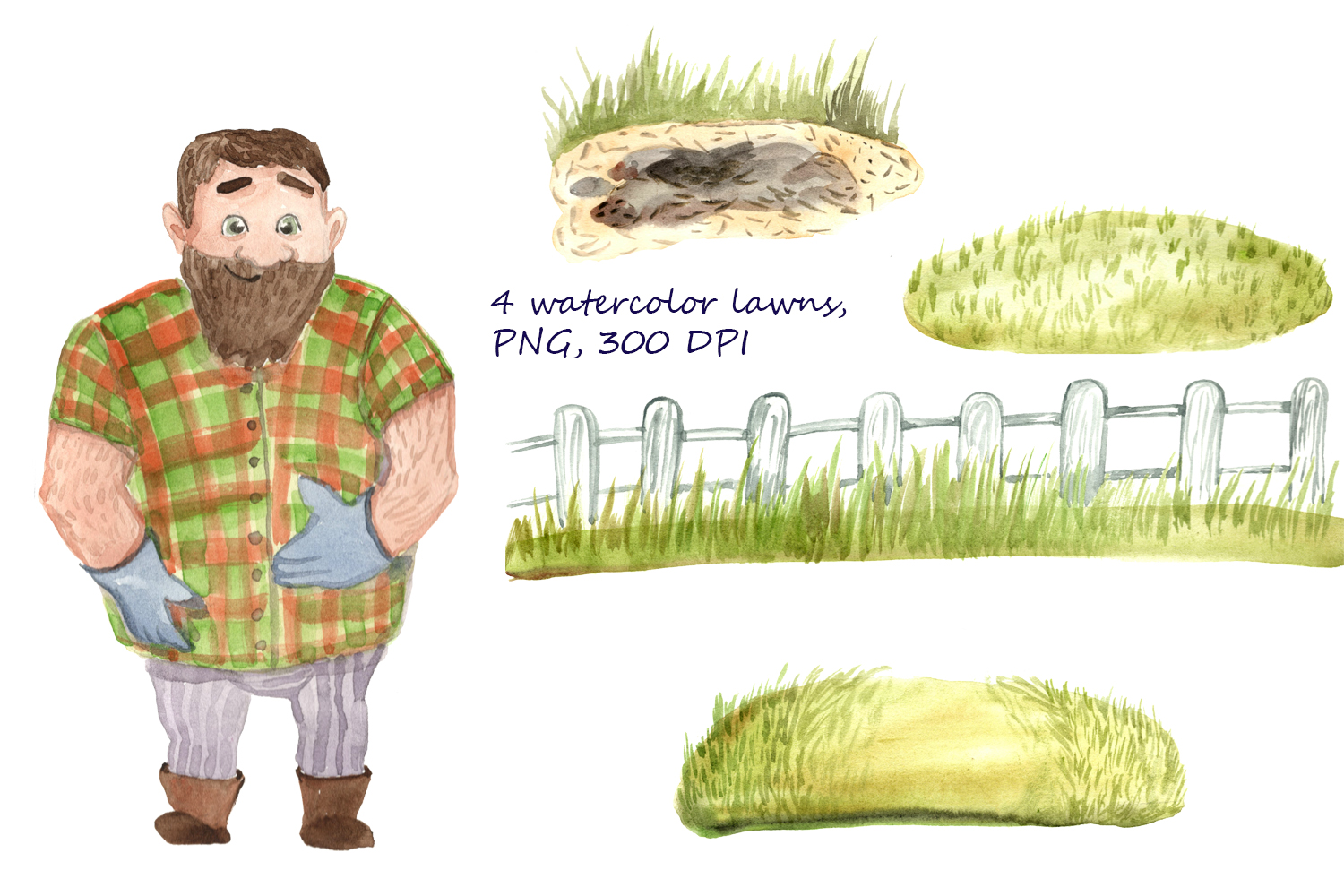 HAPPY GREENHOUSE watercolor character example image 4