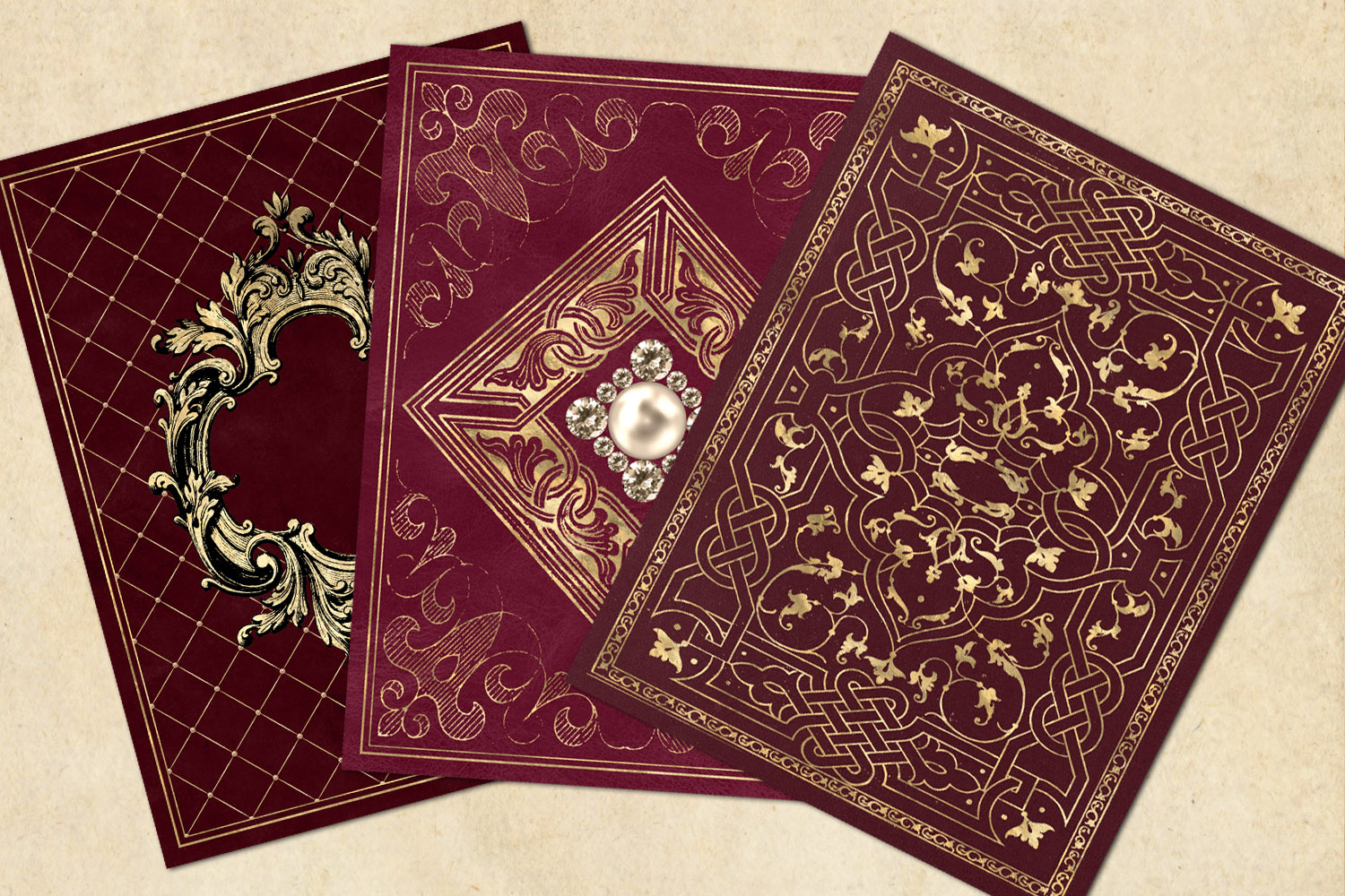 Gilded Red Book Covers example image 3