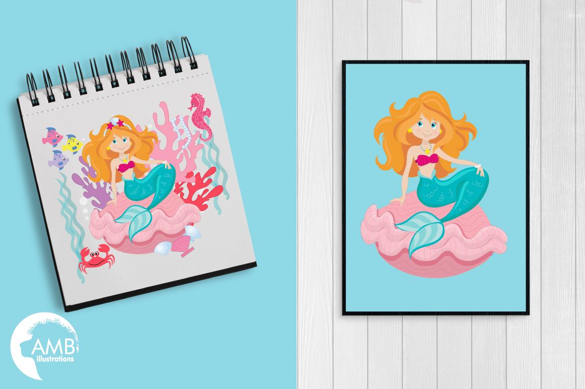 Mermaid Princess clipart, graphics, illustrations AMB-818 example image 3