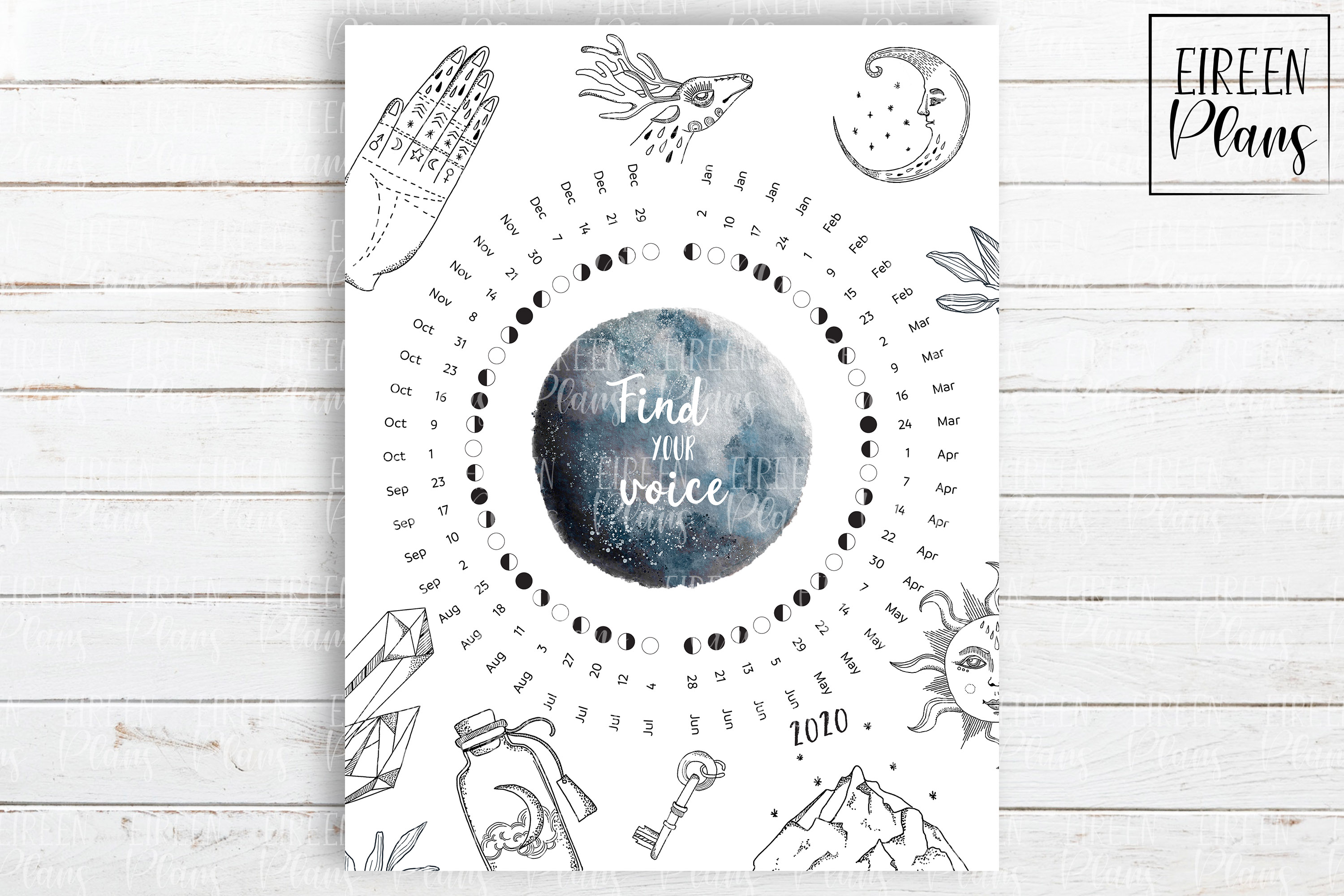 It's just a graphic of Printable Moon Phases inside kid friendly
