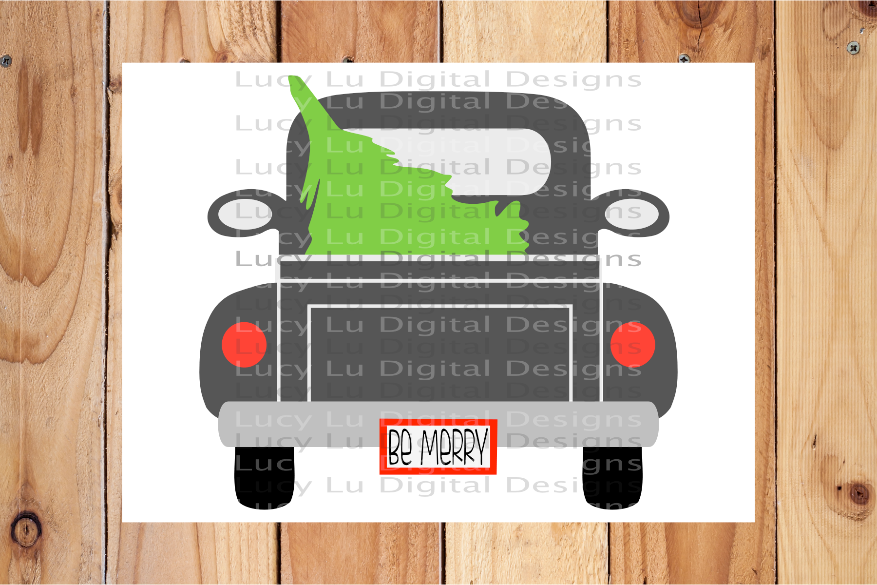 Be Merry Christmas Tree Truck example image 2