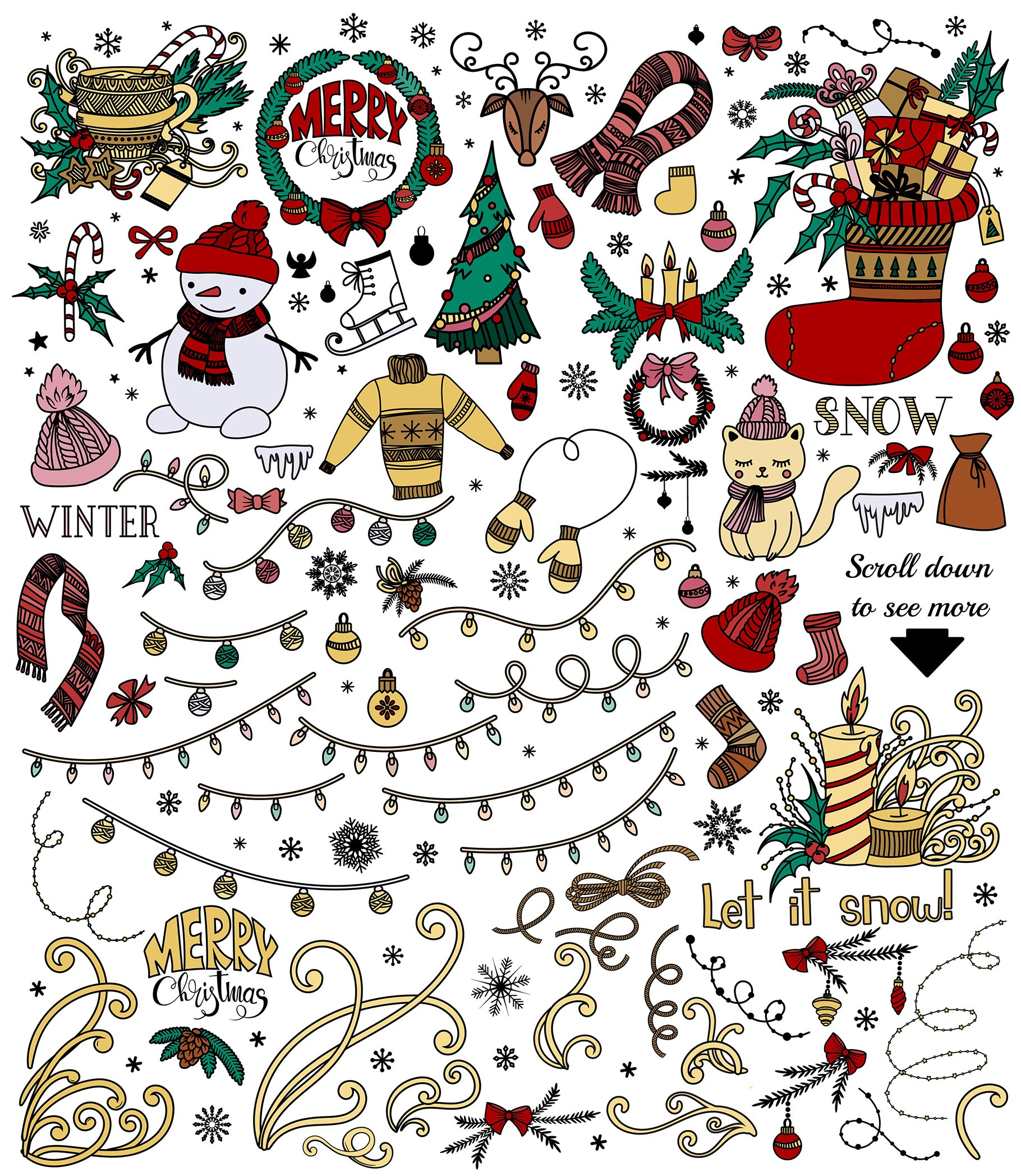 Christmas Doodles example image 6