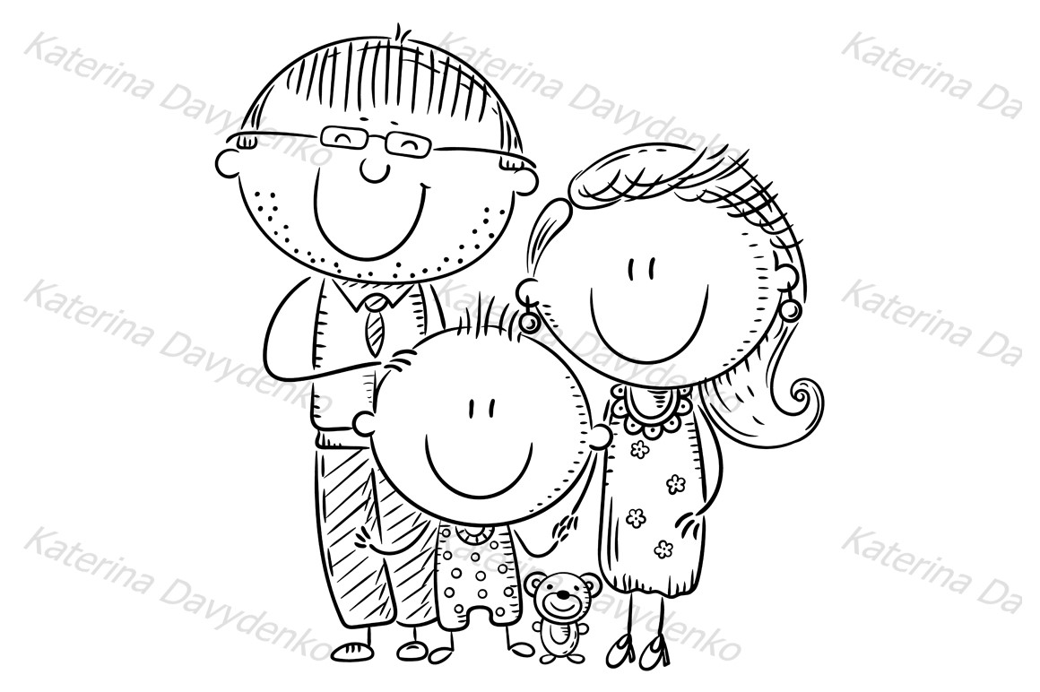 Happy family with one child example image 2