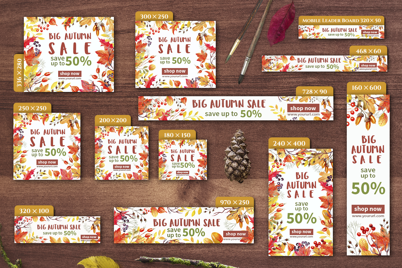 Autumn Sale Web Banners Set example image 2