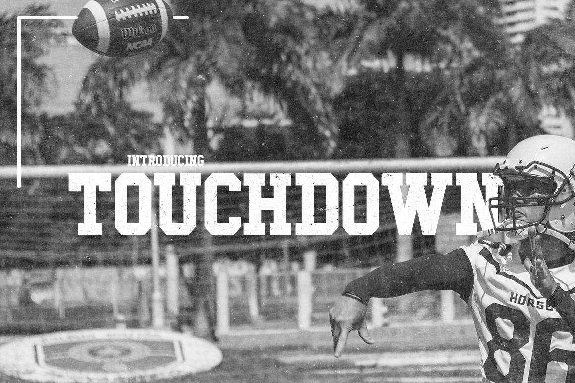 Touchdown Slab Font example image 1