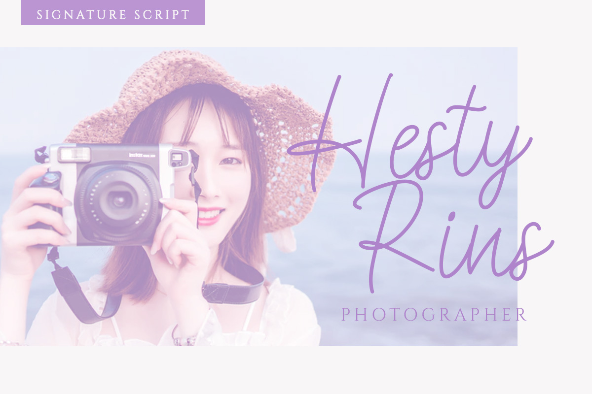 Esthetic - Beauty Script Font example image 2