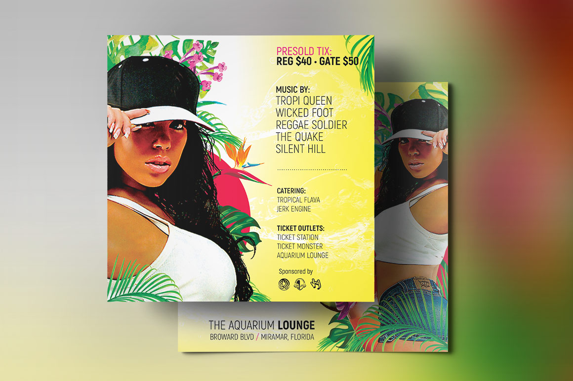 Tropical Party Small Flyer Template example image 4