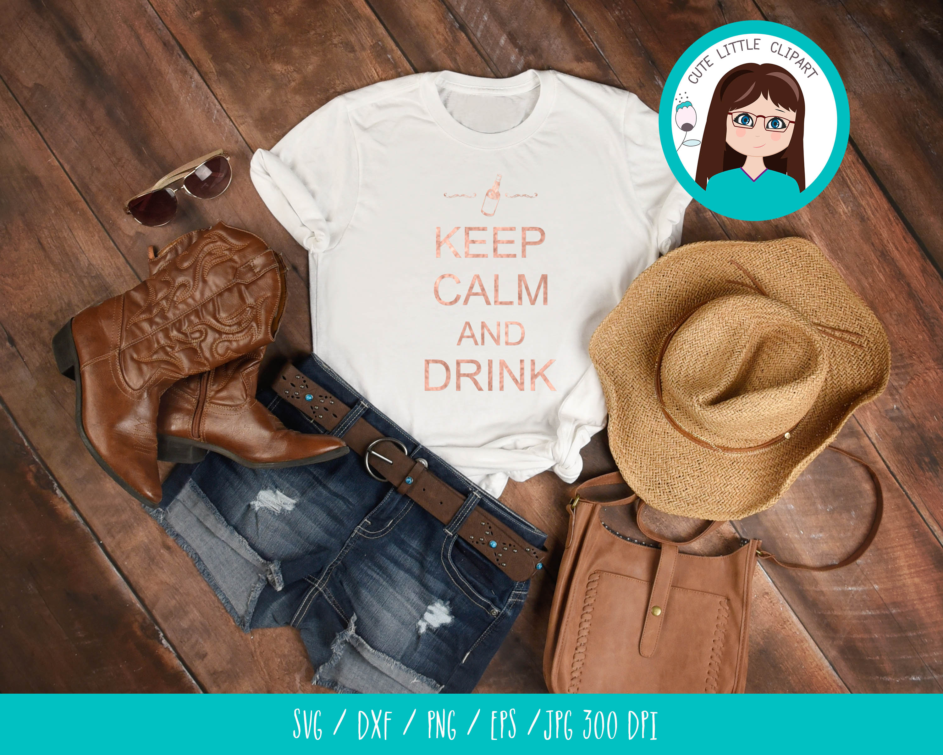 Keep Calm and drink svg example image 3
