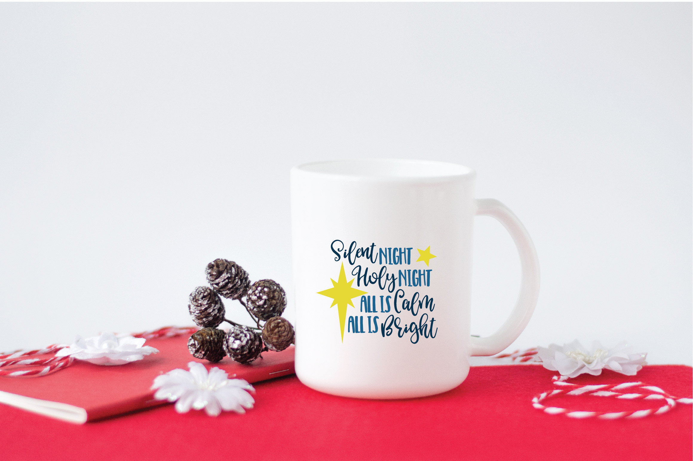 Silent Night SVG Cut File - Christmas SVG - DXF - PNG - EPS example image 5