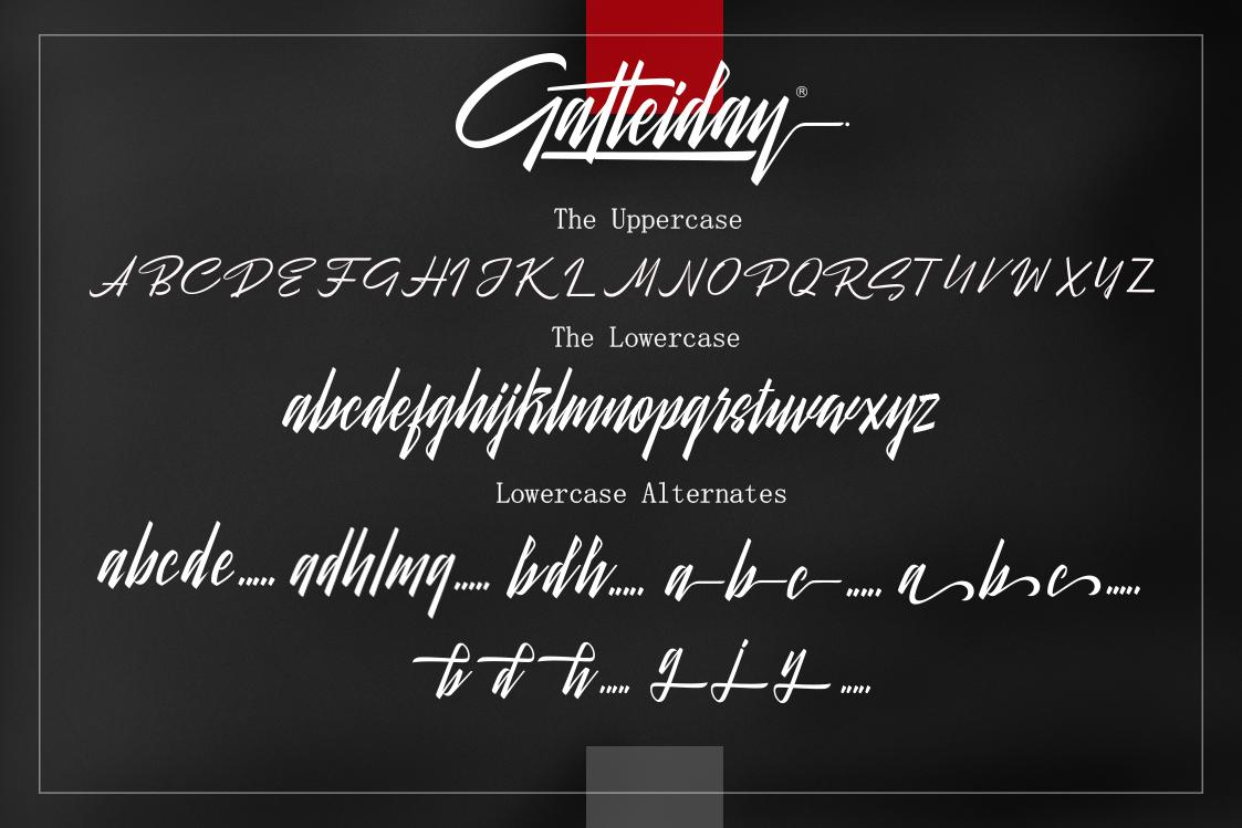 Galteiday Font Script example image 3