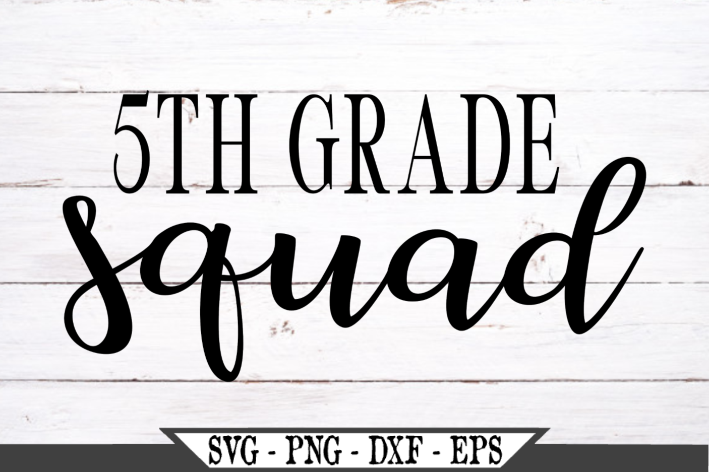 5th Grade Squad for Fifth Grader SVG example image 2