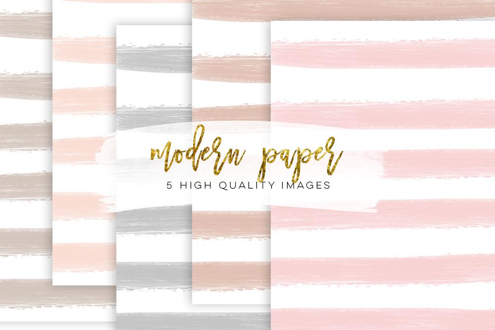 light blush paper, card making kit, digital image, watercolor clip art set, card making kit, digital image, neutral nude beige, light grey, example image 1