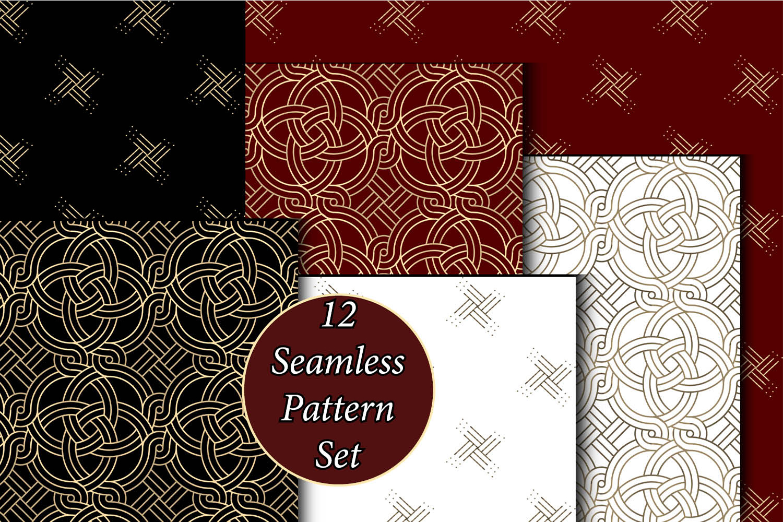 12 Seamless Pattern Set example image 2