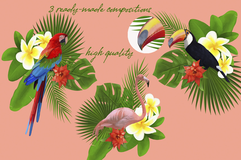 TROPICANA watercolor clipart set example image 3