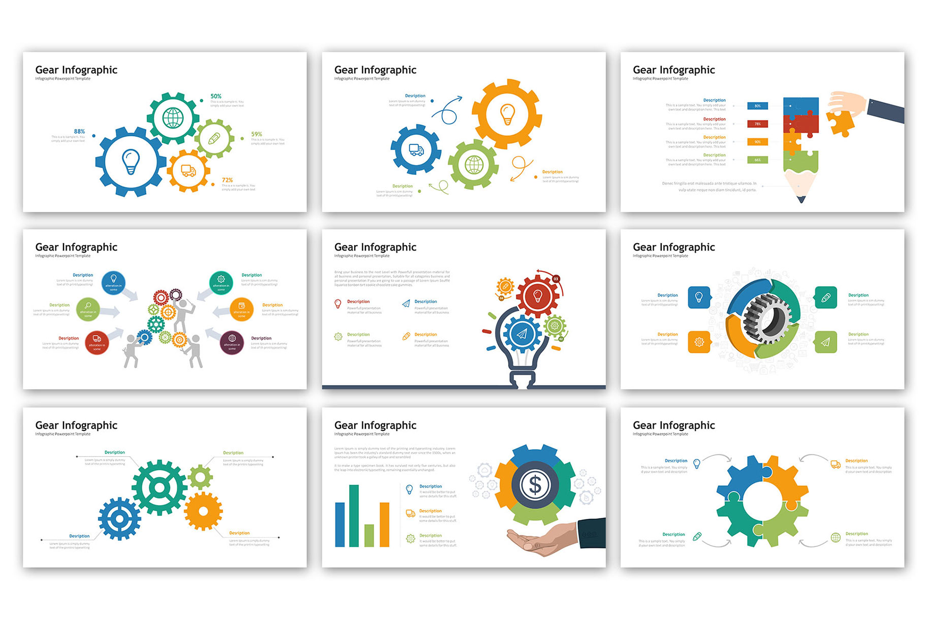 Gear Presentation - Infographic Template example image 3