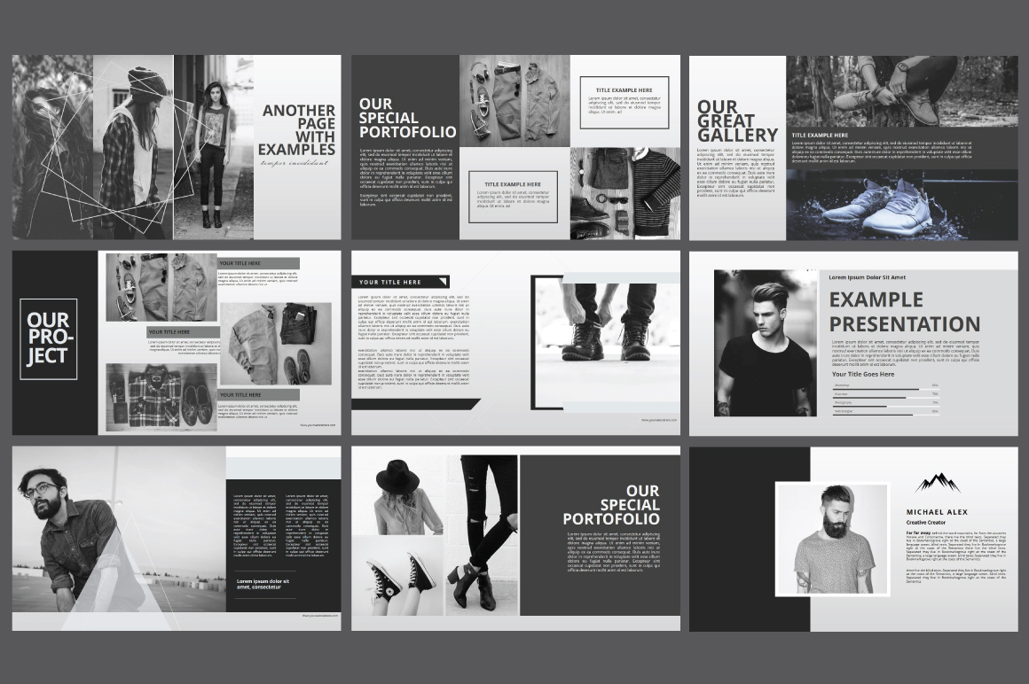Hipster business Powerpoint Template example image 7